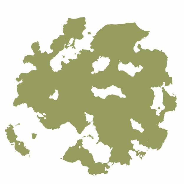 Island Shape Coloured
